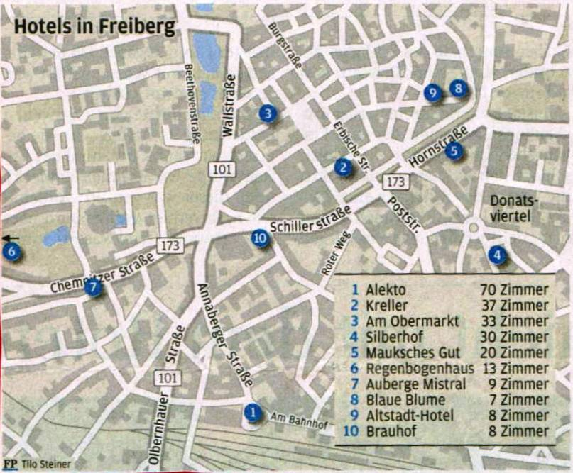 2012 Hotels in Freiberg